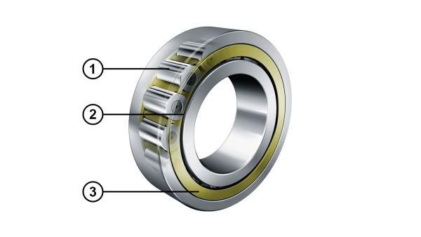 Roulements à rouleaux cylindriques avec optimisation du contact sur le bord