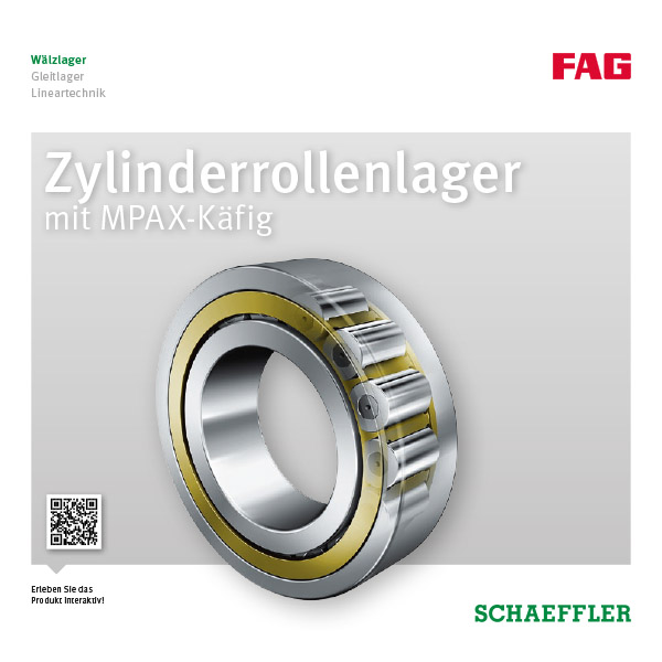 Zylinderrollenlager mit MPAX-Käfig