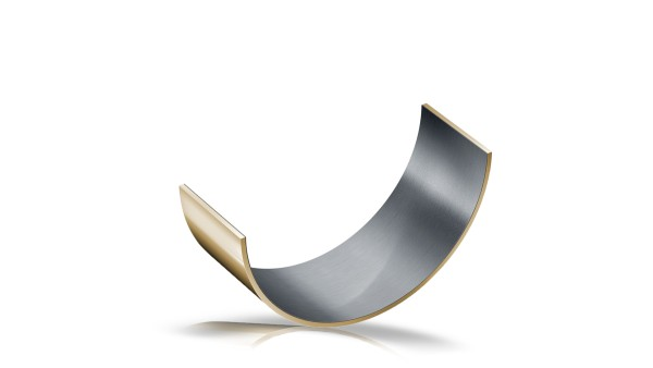 Palier lisse en composite métal/polymère, demi-coussinet