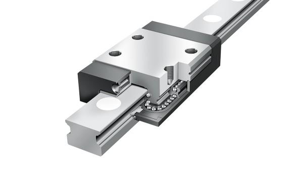 Guidages linéaires Schaeffler: Systèmes miniatures à recirculation à quatre rangées de billes